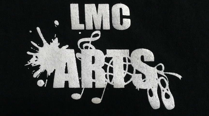 LMC arts logo on a shirt