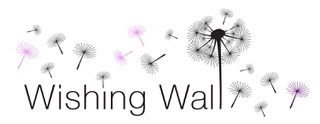 Wishing Wall logo with flowers