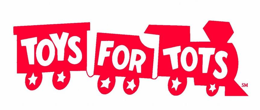 Toys for Tots logo with trains