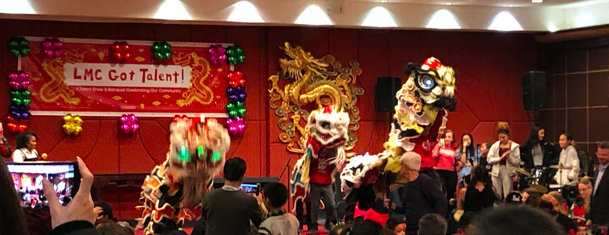 Performance at Jing Fong restaurant Lion Dance