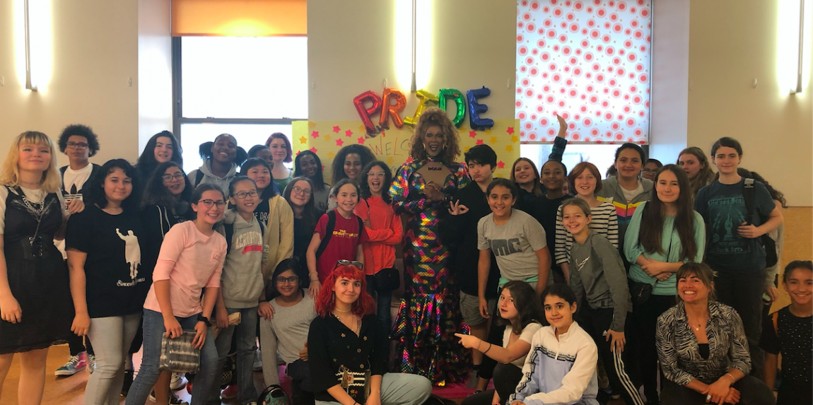 Celebration of PRIDE week group photo with guest speaker