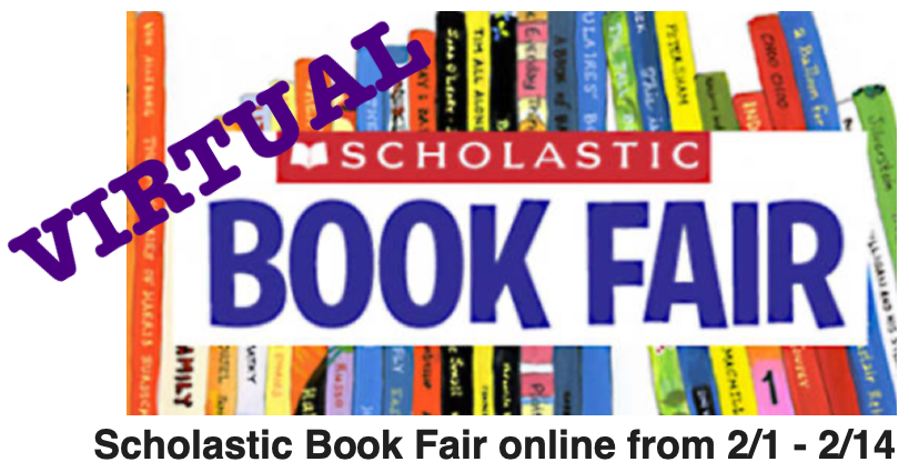 Logo for Virtual Book Fair dates