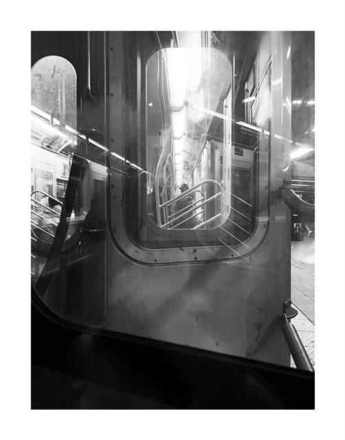 Picture taken inside subway car